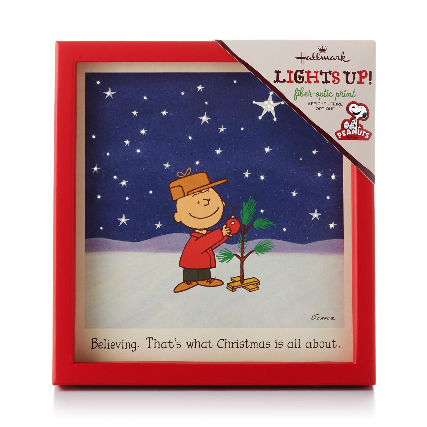 Charlie Brown Christmas Tree Fiber-Optic Framed Print - Peanuts ...
