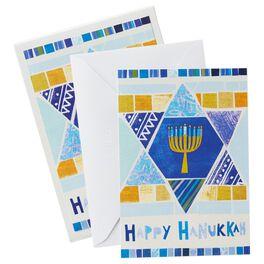 UNICEF Star of David Hanukkah Cards, Box of 12, , large