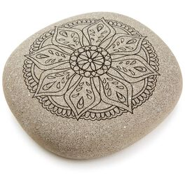 Mandala Flower DIY Coloring Rock, , large