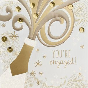 A Toast to Love and Happiness Engagement Card