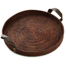 Large Wicker Tray, , large