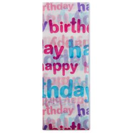 Multicolor Happy Birthday Tissue Paper, 6 sheets, , large