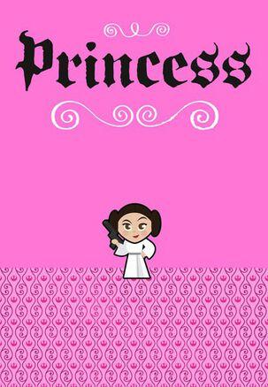 Kick-Butt Princess Leia™ Birthday Card