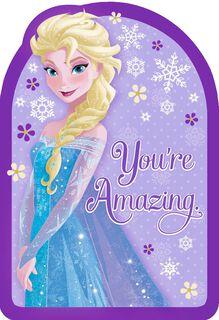 Frozen Queen Elsa You're Amazing Birthday Card,