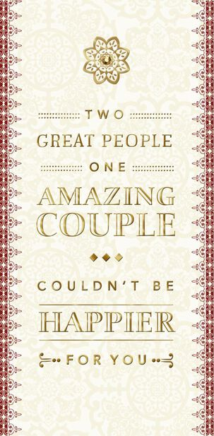 Two Great People Money Holder Wedding Card