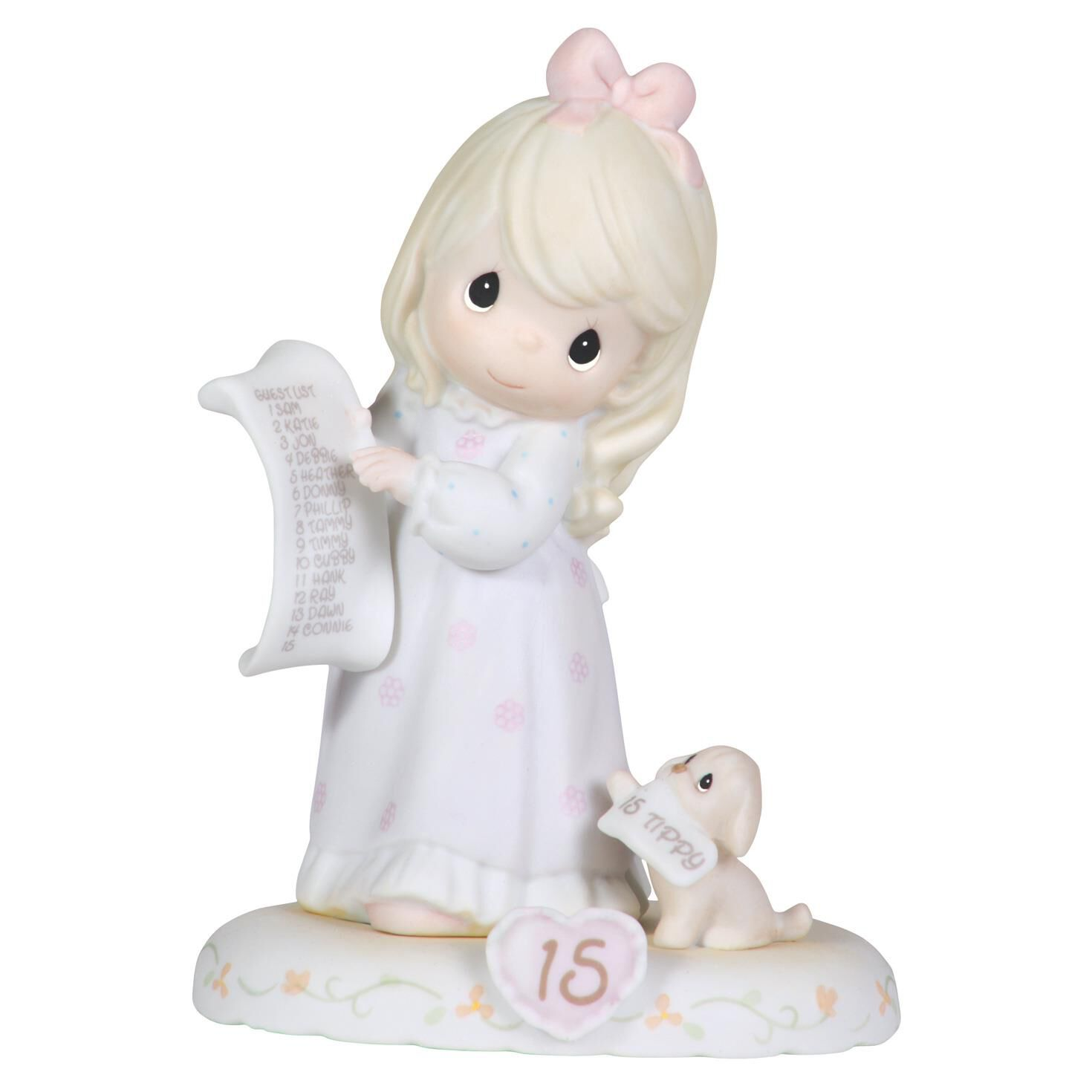 Precious Moments Growing in Grace Blonde Hair Girl Figurine Age