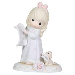 Precious Moments® Growing in Grace Blonde Hair Girl Figurine, Age 15, , large