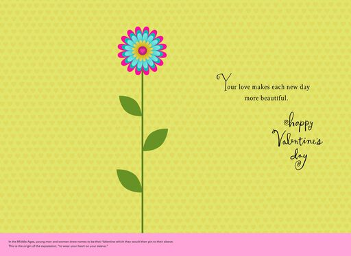 UNICEF Bright Flowers Valentine's Day Card for Wife,