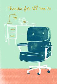 Office Chair Admin Professionals Day Card,