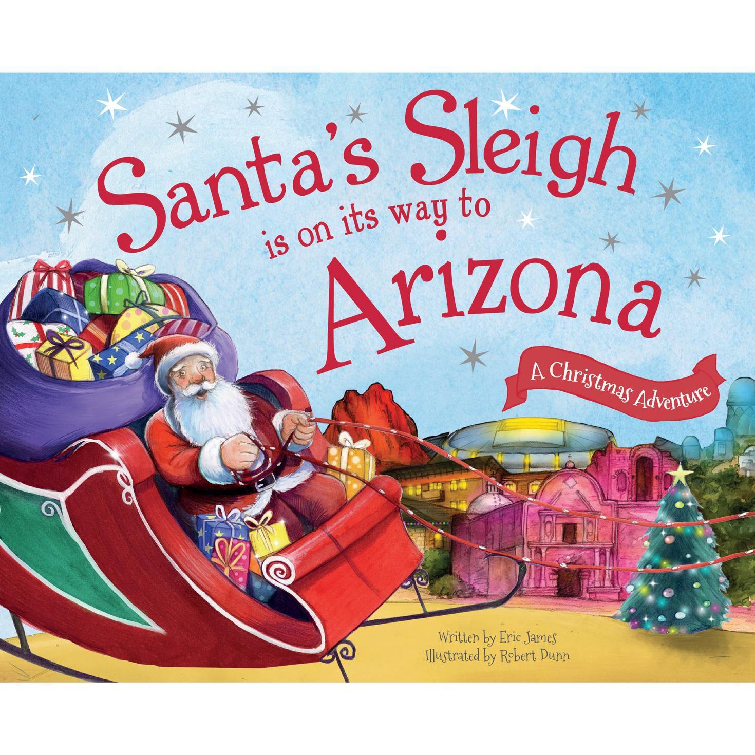 santa u0027s sleigh on its way christmas adventure book kids books