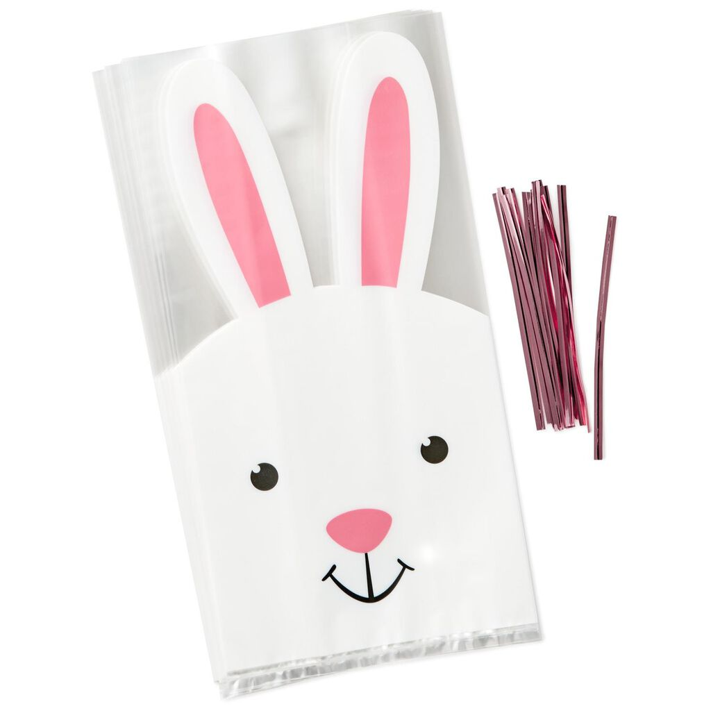 Easter bunny treat bags pack of 12 gift bags hallmark easter bunny treat bags negle Images