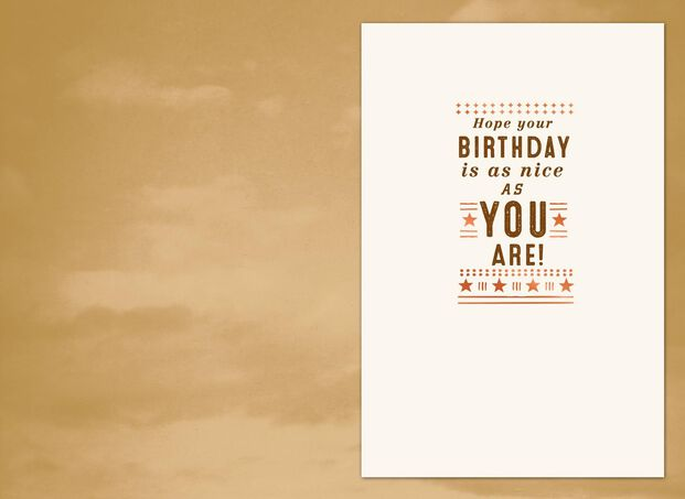 Sky Birthday Card For Boss