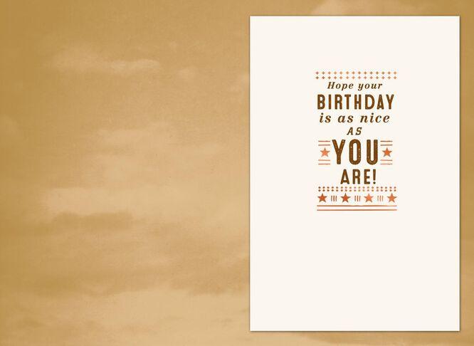 Sky Birthday Card for Boss Greeting Cards Hallmark – Birthday Card for the Boss