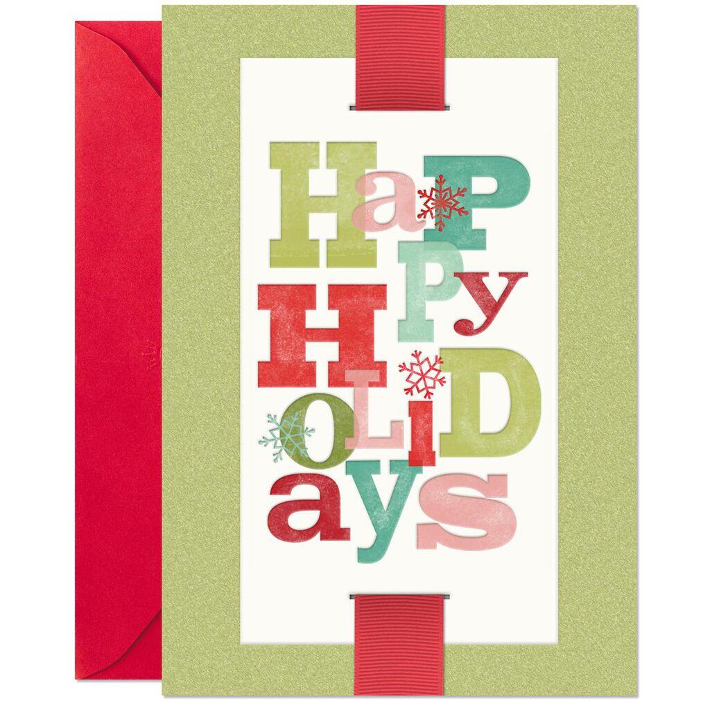 Happy Holidays Letterpress Christmas Card - Greeting Cards - Hallmark