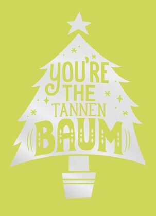 You're the Tannenbaum Christmas Card