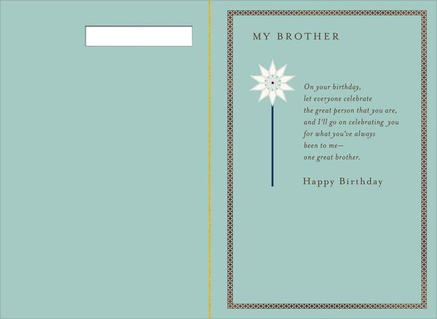 Mod Flowers Birthday Card For Brother