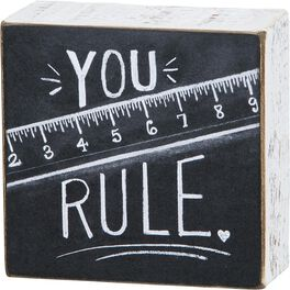 Primitives by Kathy You Rule Chalk Sign, , large