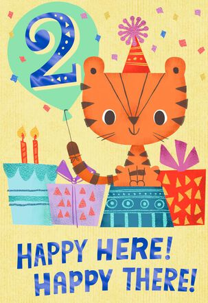 You're 2! Party Kitty Birthday Card