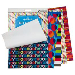 Wrapping Paper Pad in Bold Birthday Colors, , large