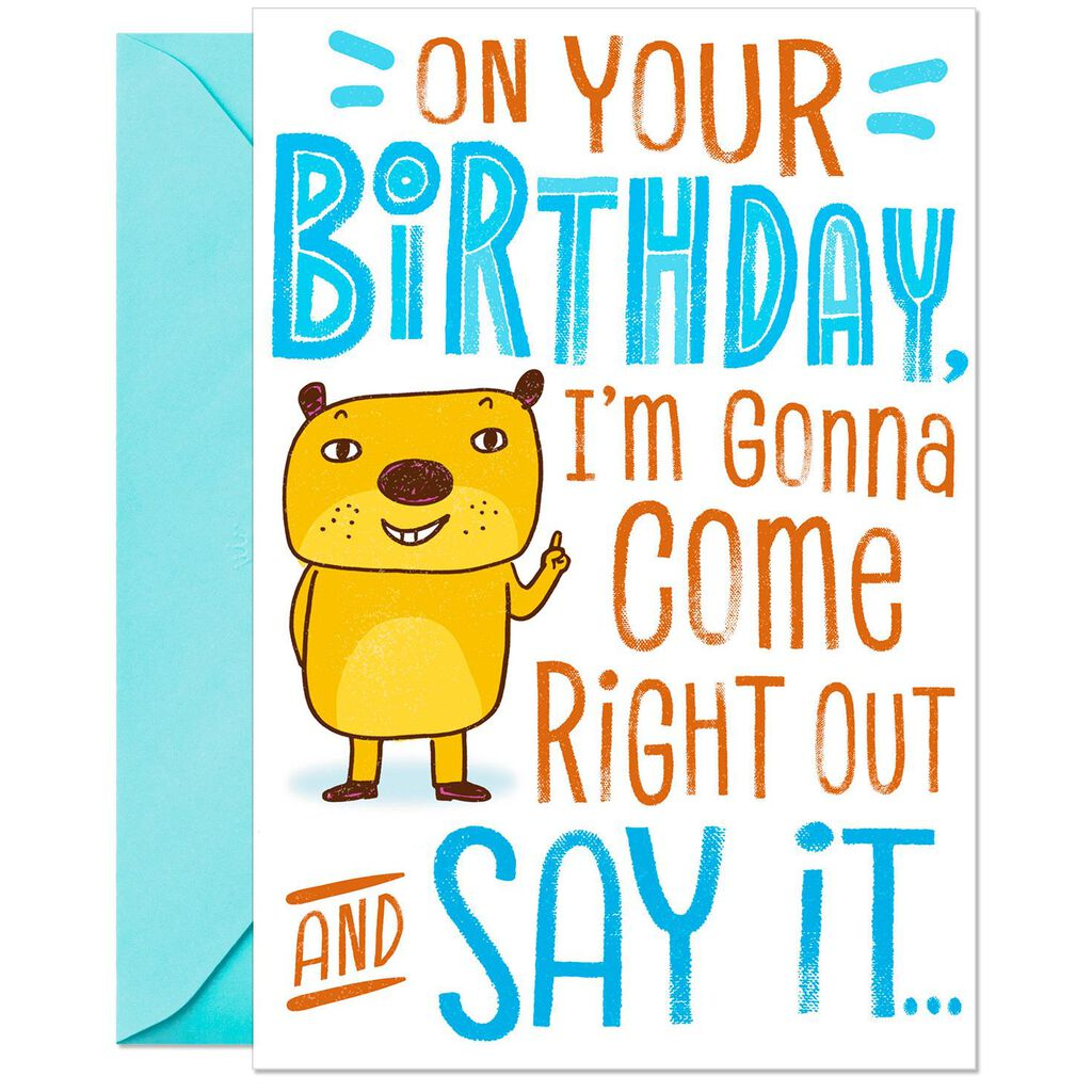 Tiny Miracle Funny Pop Up Birthday Card For Brother