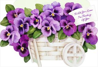 Pansy Thinking of You Card,