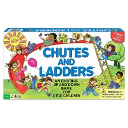 Classic Chutes and Ladders Game, , large