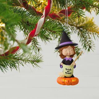 Sweet Trick-or-Treater Witch Mary's Angels Halloween Ornament,