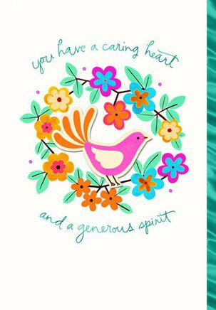 Caring Heart Generous Spirit Thank You Card