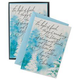 Light of Faith Christmas Cards, Box of 16, , large