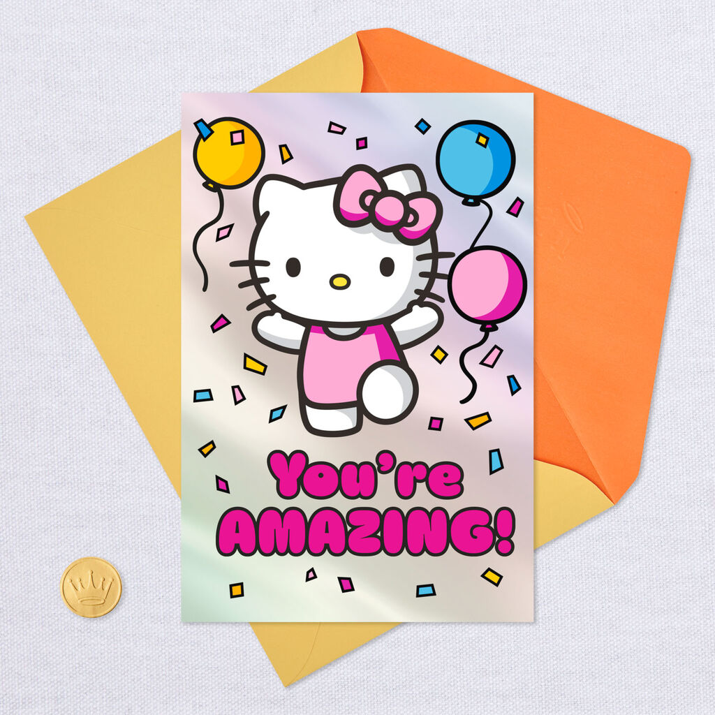 8dd3efcaf Hello Kitty® You're Amazing Birthday Card for Girl - Greeting Cards ...
