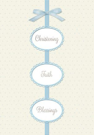 So Much Promise Baby Boy Christening Card