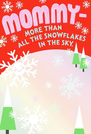 All the Snowflakes Christmas Card for Mommy