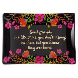 Natural Life Glass Tray Good Friends Are Like Stars, , large
