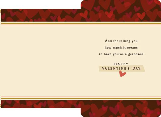 World of Love Grandson Valentine's Day Card,