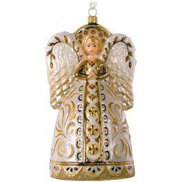 Decorative Angel Blown Glass Ornament, , large