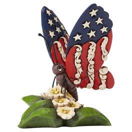 Jim Shore® Mini Patriotic Butterfly Figurine, , large