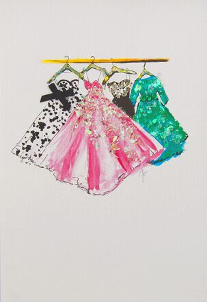 Designer Dresses Blank Card