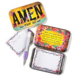 Natural Life Tin Prayer Box Amen, , large