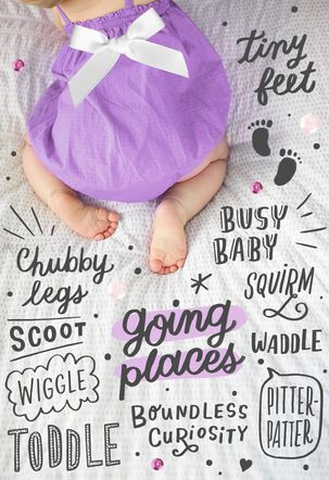 Going Places New Baby Girl Card