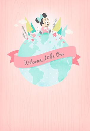 Minnie Mouse Welcome Little One New Baby Card
