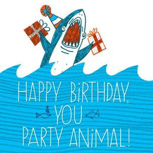 Shark Party Animal Birthday Card