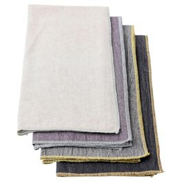 Classic Chambray Bar Towels, Set of 4, , large