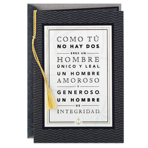 Nautical Spanish-Language Father's Day Card for Husband
