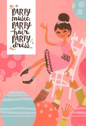 Party On! Bat Mitzvah Card