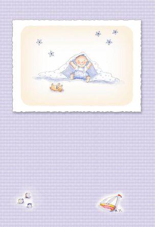 Peekaboo New Baby Boy Card