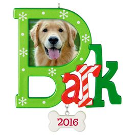Dog Bark Photo Holder Ornament, , large