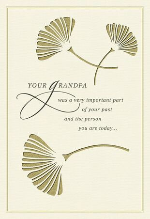 On The Loss Of Your Grandpa Sympathy Card