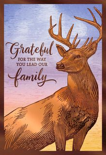 Foil Deer at Sunset Father's Day Card,