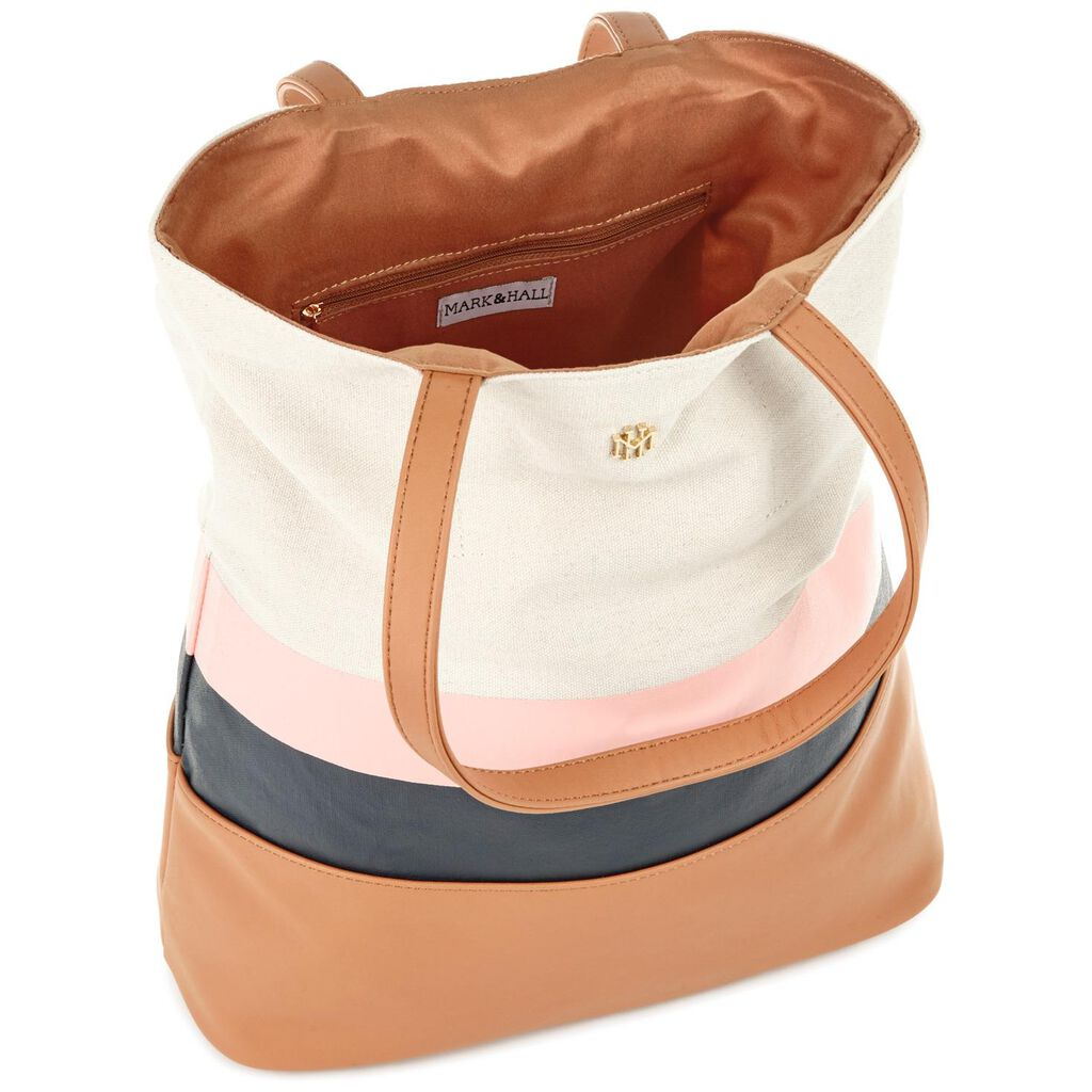 7629e57d516 Mark   Hall Camel Colorblock Tote Bag - Handbags   Purses - Hallmark