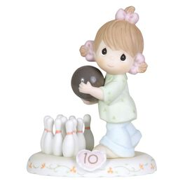 Precious Moments® Growing in Grace Brunette Hair Girl  Figurine, Age 10, , large